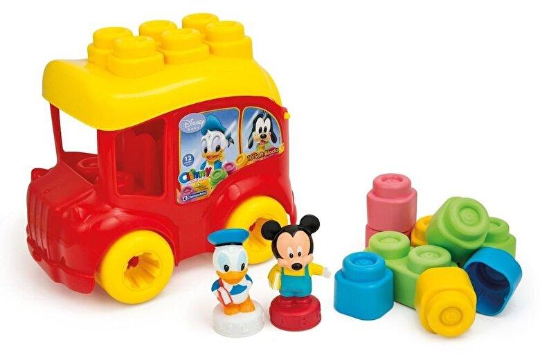 Clementoni - Baby Clemmy - Autobuz Mickey, 10 cuburi -