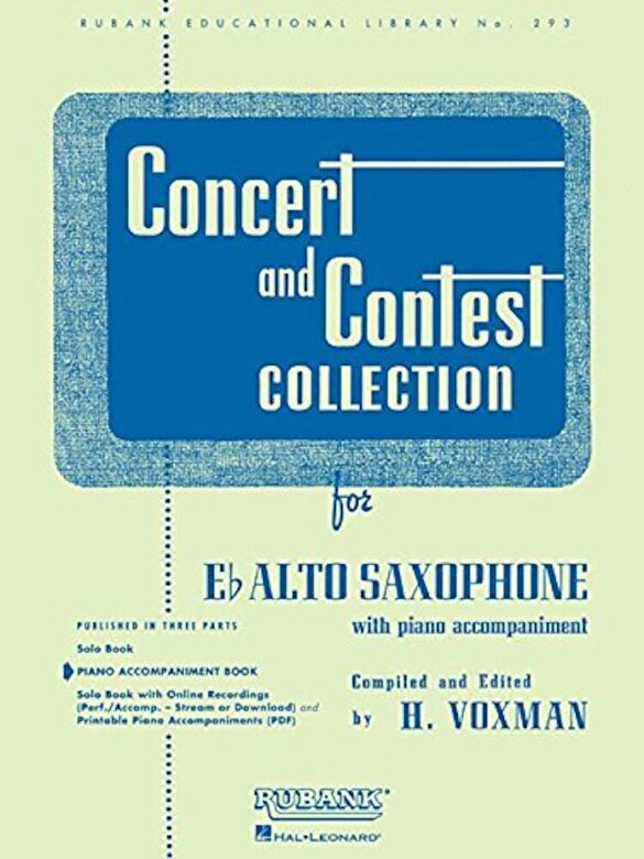 H. Voxman - Concert and Contest Collection for Eb Alto Saxophone: Piano Accompaniment, Paperback -
