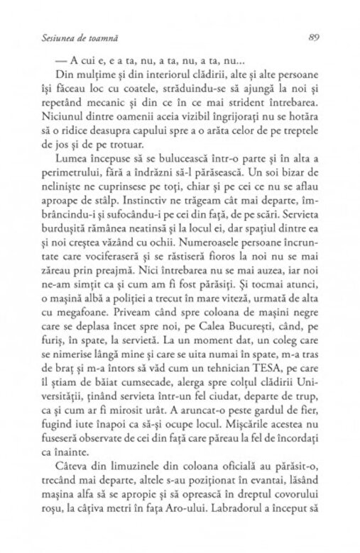 Eugen Negrici - Sesiunea de toamna -