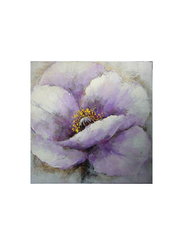 Mendola Art - Tablou pictat manual Mendola Art, Petunia, 218-OPE3063A, 60 x 60 cm - Alb-mov