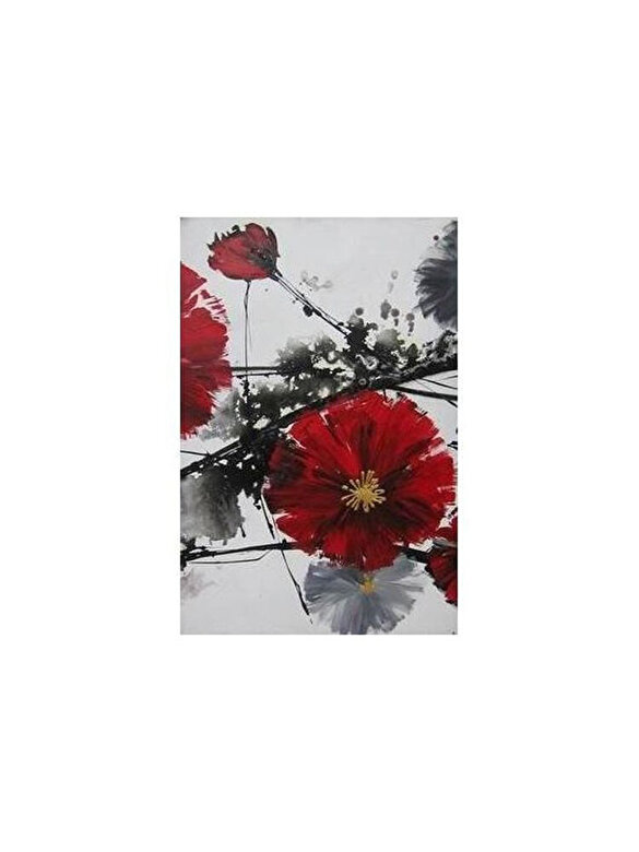 Mendola Art - Tablou pictat manual Mendola Art, Cherry Blossom B, 218-OPK168B-7050, 70 x 50 cm - Gri-Rosu