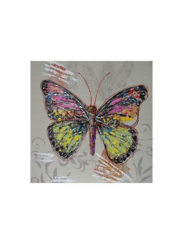 Mendola Art - Tablou pictat manual Mendola Art, Radiance, 218-AOPE5753B, 30 x 30 cm - Multicolor