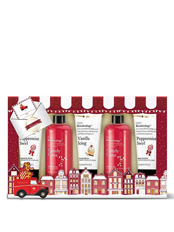 Baylis And Harding - Set cadou Beauticology Special Delivery Red: Gel de dus, 300ml + Gel de dus, 300ml + Crema de dus, 130ml + Crema de maini, 130ml + Lotiune de corp, 130ml - Incolor