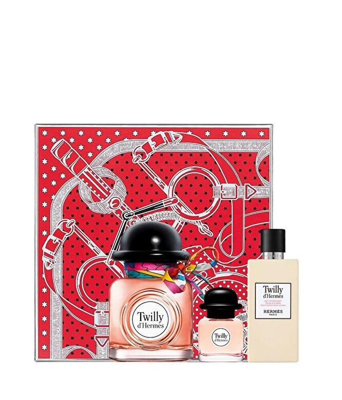 Hermes - Set cadou Twilly d Hermes (Apa de parfum 85 ml + Apa de parfum 7.5 ml + Lotiune de corp 80 ml), pentru femei - Incolor