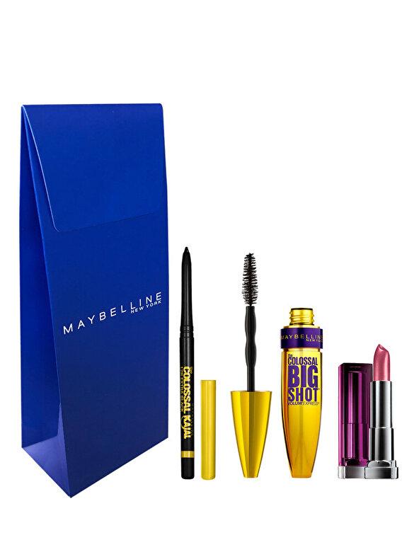 Maybelline NY - Trusa Maybelline New York: Mascara Colossal Big Shot + Creion de ochi Colossal Kajal +  Ruj Color Sensational Rich Plum - Incolor
