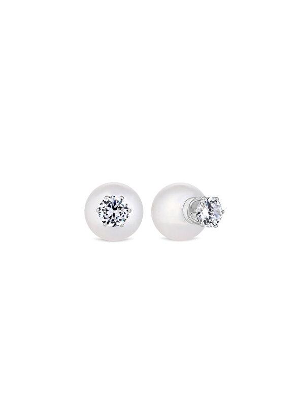 Diamond Style - Cercei Diamond Style PEARLORBEARR - Argintiu