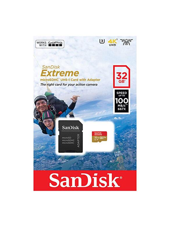 SanDisk - Card de memorie SanDisk Extreme Micro SD, 32 GB UHS-I, V30, A1, 4K UHD, 100 MB/s, SDSQXAF-032G-GN6AA - Gri