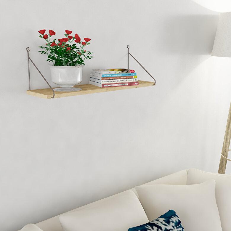 Decormet - Raft de perete Decormet, din melamina 100%, 72 x 20 x 20 cm, 775DCM1610 - Grej