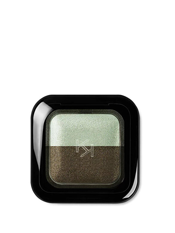 Kiko Milano - Fard de pleoape Bright Duo Baked, 04 Metallic Golden Green - Pearly Moss Green - Incolor