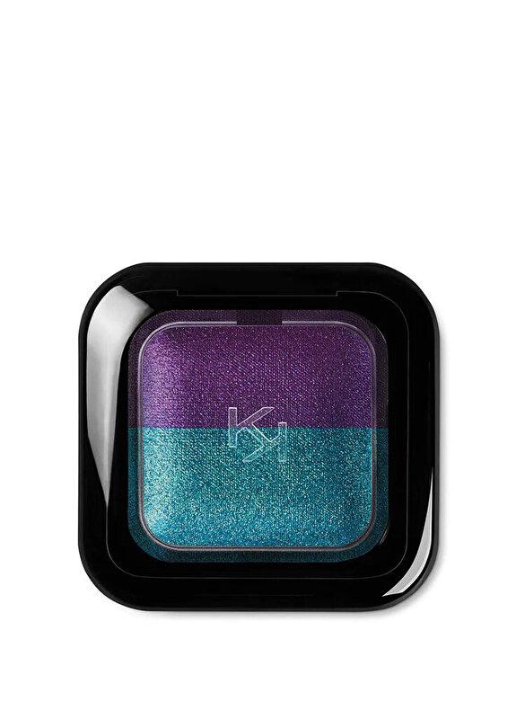 Kiko Milano - Fard de pleoape Bright Duo Baked, 09 Pearly Emerald - Metallic Violet - Incolor