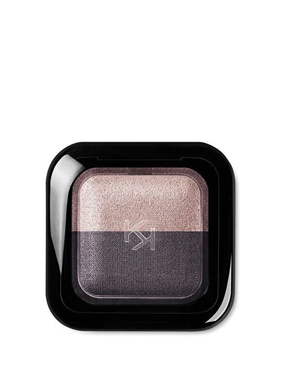 Kiko Milano - Fard de pleoape Bright Duo Baked, 16 Pearly Rosy Taupe - Satin Purple Gray - Incolor