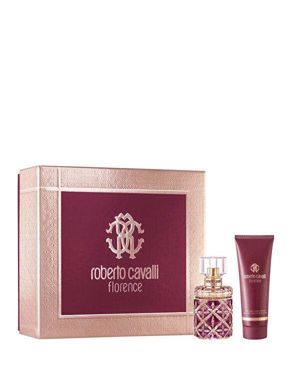 Roberto Cavalli - Set cadou Roberto Cavalli Florence (Apa de parfum 50 ml + Lotiune de corp 75 ml), pentru femei - Incolor