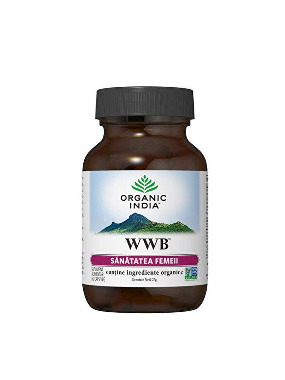ORGANIC INDIA - Supliment alimentar natural WWB Sanatatea Femeii 60cps veg Organic India - Incolor