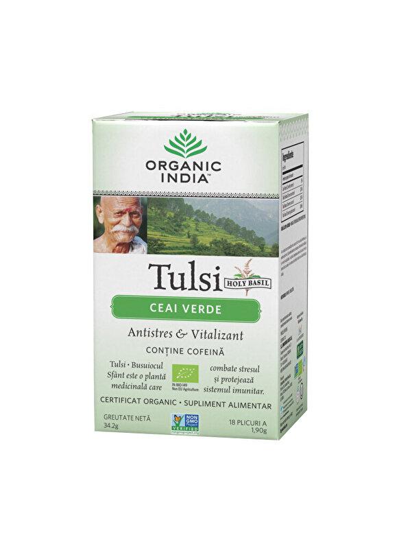 ORGANIC INDIA - Ceai Verde Tulsi Eco/Bio 18pl Organic India - Incolor