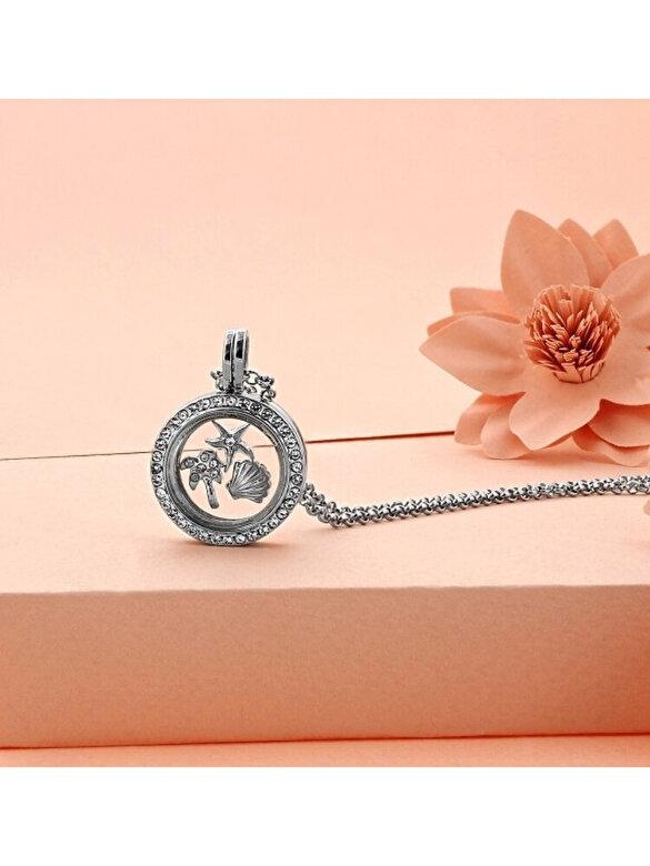 Diamond Style - Colier Diamond Style LOCKETBEACH - Argintiu