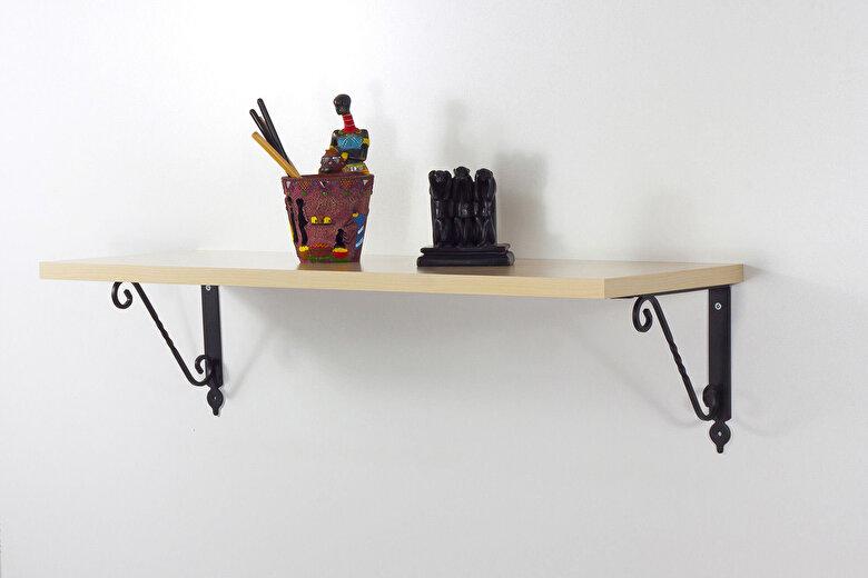 Decormet - Raft de perete Decormet, 775DCM1657, pal melaminat, 72 x 25 x 20 cm - Bej