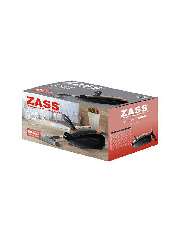 Zass - Aspirator cu sac, Zass, 700 W, ZVC 07, plastic, Negru/Portocaliu - Negru