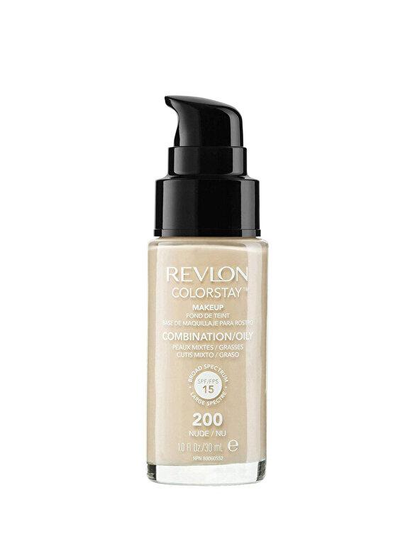 Revlon - Fond de ten Colorstay pentru ten mixt-gras, 200 Nude, 30 ml - Incolor