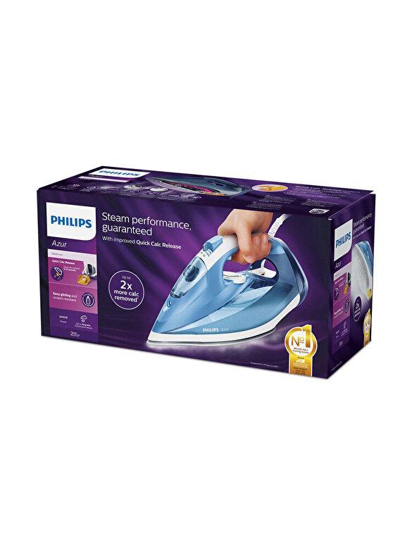 Philips - Fier de calcat, Philips, Azur, SteamGlide, 2400 W, 300 ml, GC4532/20, Alb/Albastru - Multicolor