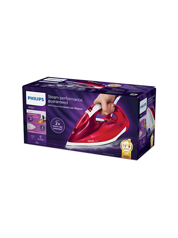 Philips - Fier de calcat, Philips, Azur, 2500 W, SteamGlidePlus, GC4554/40, Rosu - Rosu