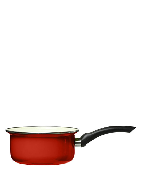 Domotti - Cratita cu maner - Vigo, 12 cm - Rosu cardinal