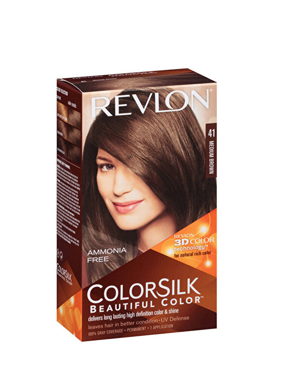Revlon - Vopsea de par ColorSilk, 41 Medium Brown, 100 ml - Incolor