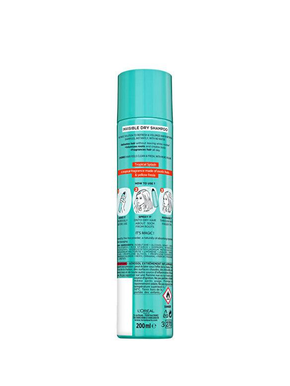 L Oreal Paris - Sampon uscat purificator L Oreal Paris Magic Shampoo Tropical Splash, 200 ml - Incolor