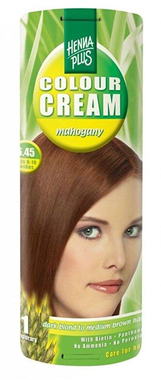 Hennaplus - Crema nuantatoare Colour Cream, 6.45 Mahogany, 60 ml - Incolor