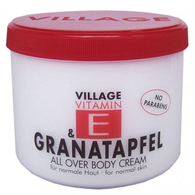 Village Cosmetics - Crema corp cu vitamina E  si Rodie, 500 ml - Incolor