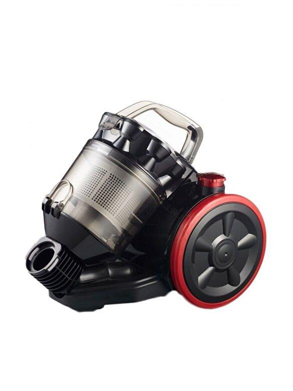 Rohnson - Aspirator fara sac Rohnson Cyclone R157,  800 W, capacitate recipient de praf: 2 L, negru-rosu - Negru-rosu