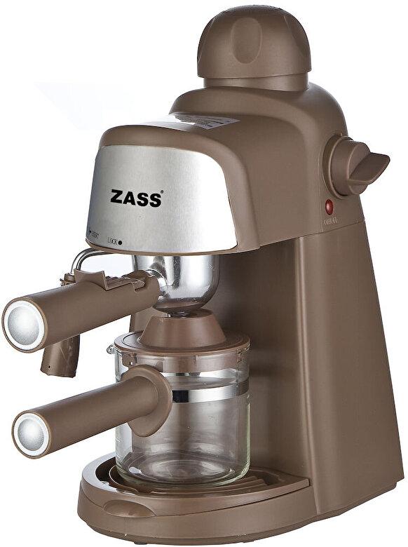 Zass - Espressor manual Zass ZEM 05, 800W, Dispozitiv Cappuccino - Maro