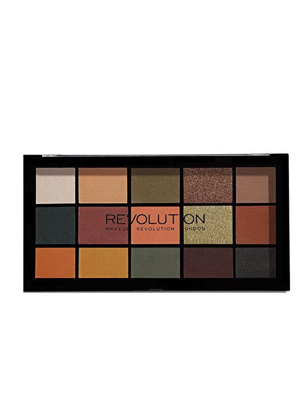 Makeup Revolution London - Paleta farduri de ochi Re-loaded, Iconic Division, 15 culori, IconicDivision, 16.5 g - Incolor
