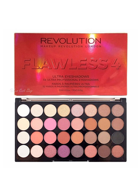 Makeup Revolution London - Paleta de farduri pentru ochi Flawless 4, 20 g - Incolor