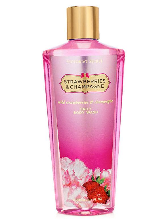 Victorias Secret - Gel de dus Strawberry & Champagne, 250 g, Pentru Femei - Incolor