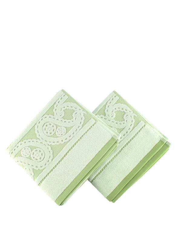 Hobby - Set doua prosoape - Lace, 50 x 90 cm - Verde pal