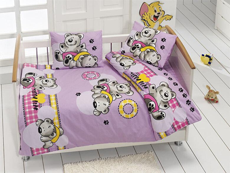 Bahar Class Home Collection - Lenjerie de pat pentru copii, Bahar Class Home Collection, material: 100% bumbac, 110BHR2001, 100 x 160 cm - Multicolor