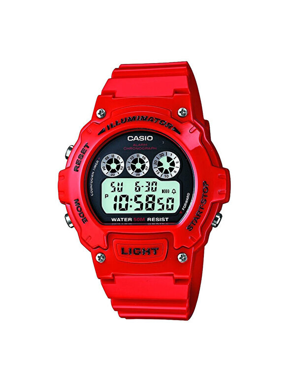 Casio - Ceas Casio Sports W-214HC-4A - Rosu