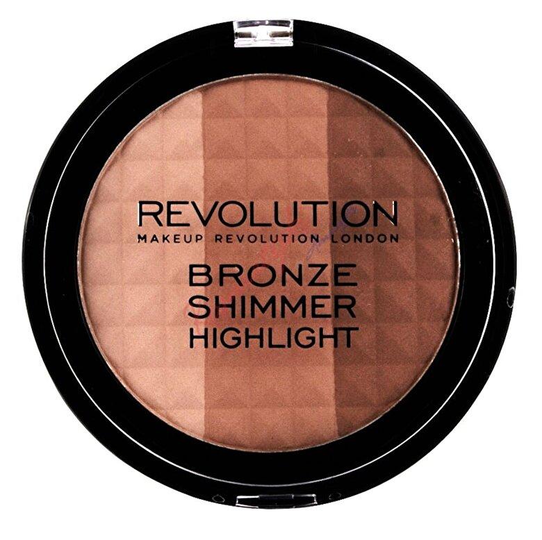 Makeup Revolution London - Pudra bronzanta Bronze Shimmer Highlight, 15 g, 15 g - Incolor