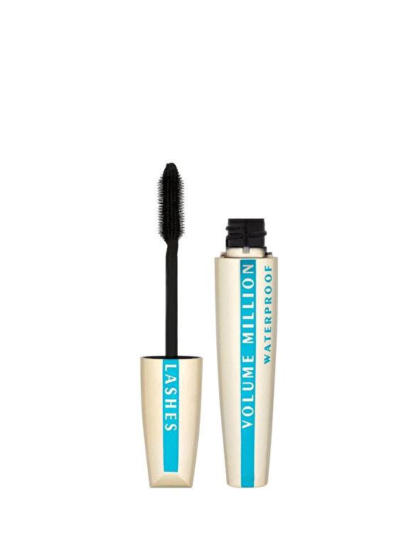 L Oreal Paris - Mascara pentru volum, rezistent la apa, Million Lashes, 9 ml - Incolor