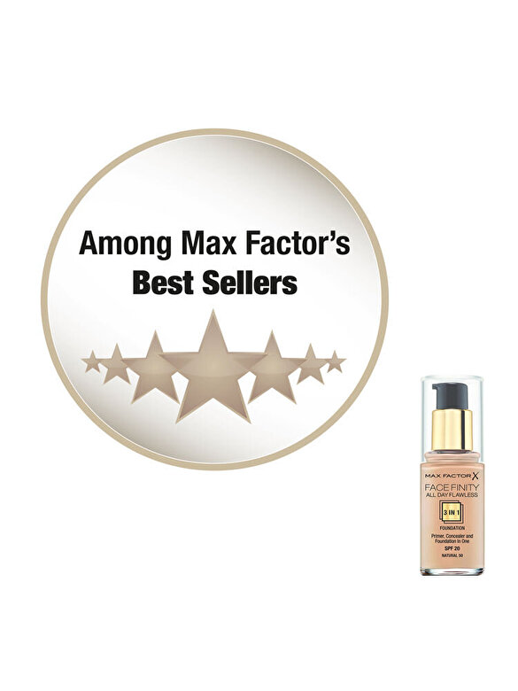 Max Factor - Fond de ten Max Factor Facefinity All Day Flawless, 050 Natural, 30 ml - Incolor