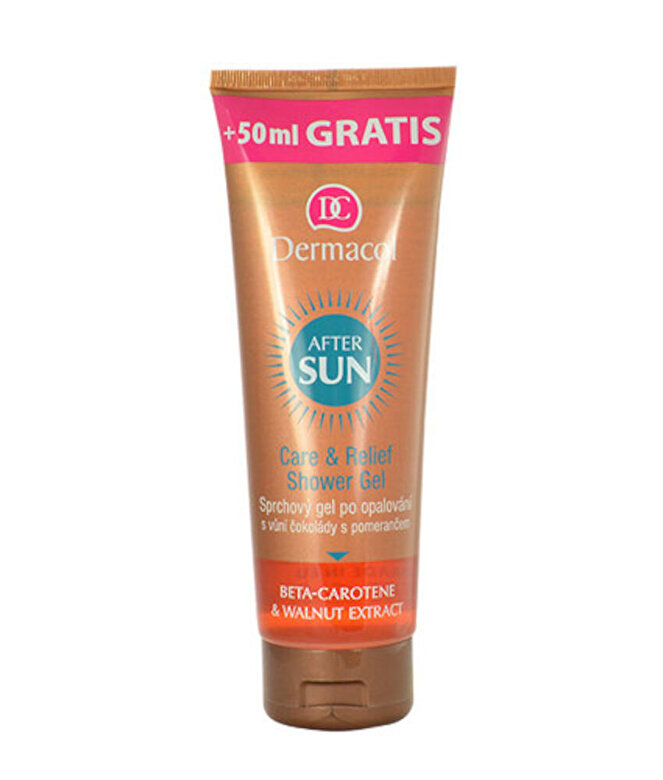 Dermacol - Gel de dus delicat pentru pielea expusa la soare Care & Relief, 250 ml - Incolor