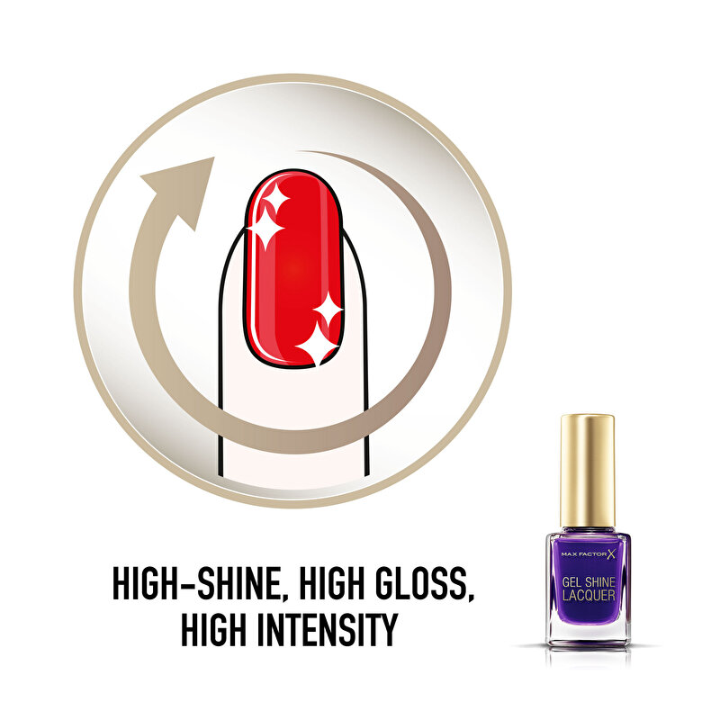 Max Factor - Gel Shine Lacquer 35 Lacquered Violet 11 ml, 11 ml - Incolor