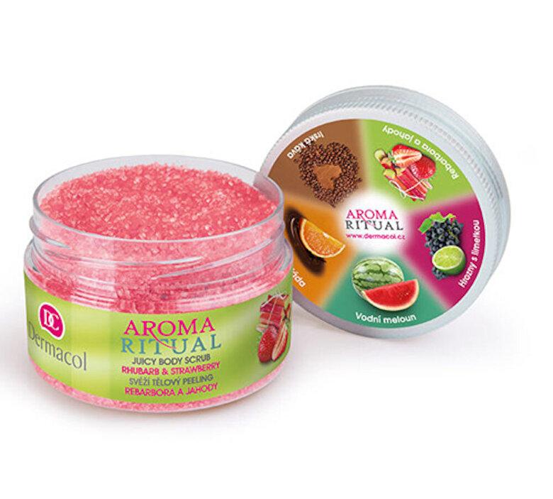 Dermacol - Exfoliant de corp cu aroma de Rubarba si Capsuni Aroma Ritual, 200 g - Incolor