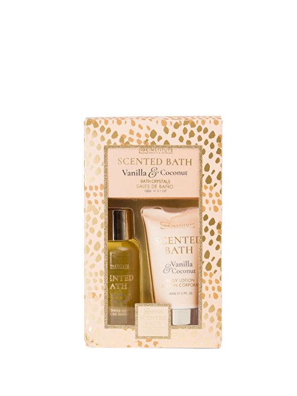 IDC INSTITUTE - Set Scented Bath cu aroma de Vanilie si Nuca de Cocos - Incolor