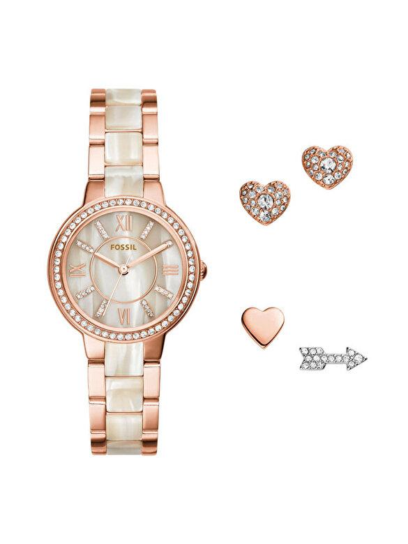 Fossil - Set ceas si cercei Fossil ES3965SET - Auriu Rose