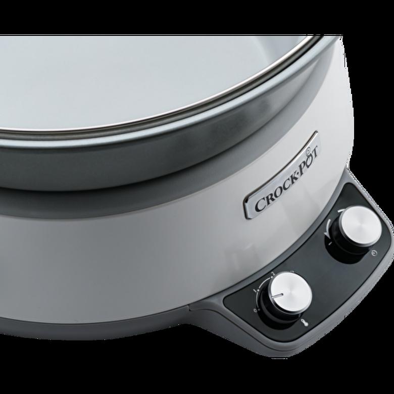 Crock-Pot - Slow cooker Crock-Pot CSC027X-01, 6.0 L, Digital, vas DuraCeramic - Alb