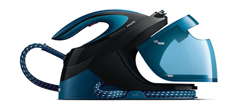 Philips - Statie de calcat PHILIPS PerfectCare Performer GC8735/80, talpa SteamGlide Plus, 2600W, 1.8l, 420 g/min, albastru - Albastru