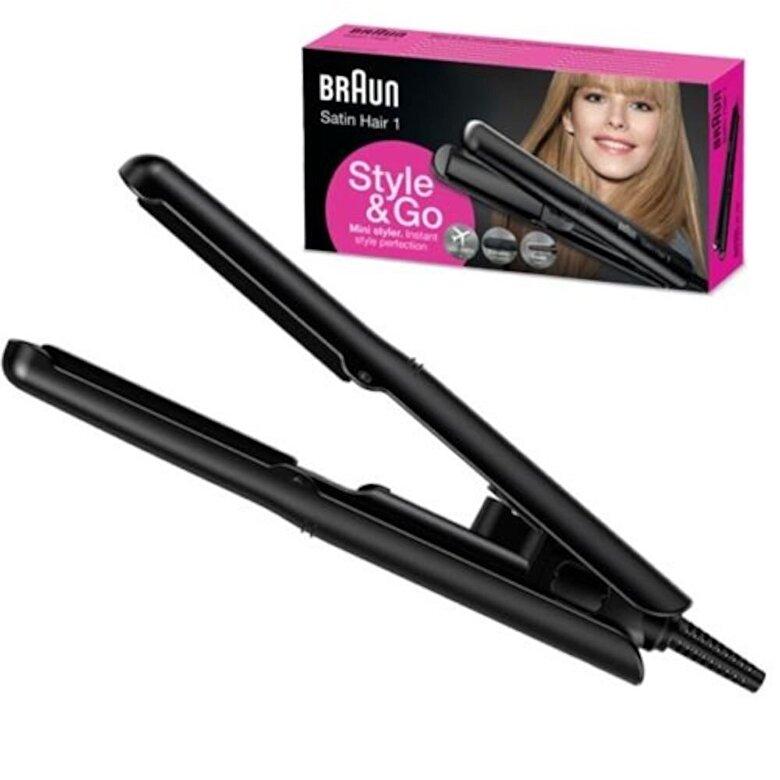 Braun - Placa de intins parul Braun Satin Hair 1 Style&Go Mini ST100 - Negru
