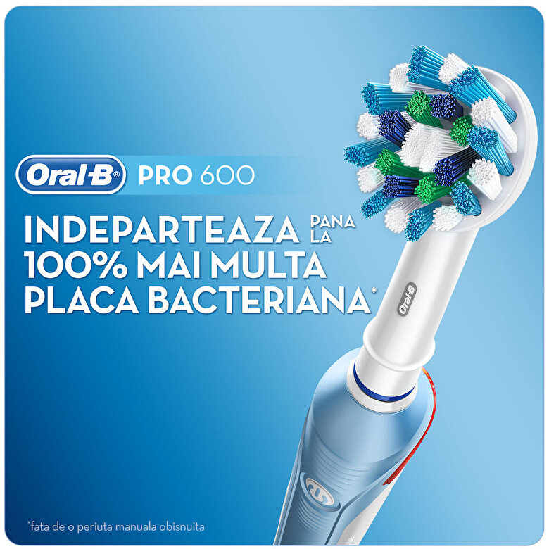 Oral-B - Periuta electrica Oral B PRO 500 Cross Action - Albastru