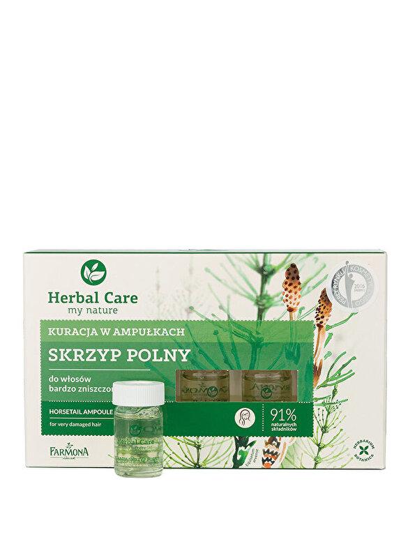 Farmona - Tratament fiole cu extract de Coada-Calului pentru parul foarte deteriorat Herbal Care, 5 x 5ml - Incolor
